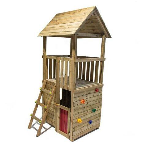 Parque Infantil Canigo Con Caseta Y Columpio Doble Masgames