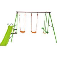 Parque infantil de acero Enzo - 4 soportes - 1.95m