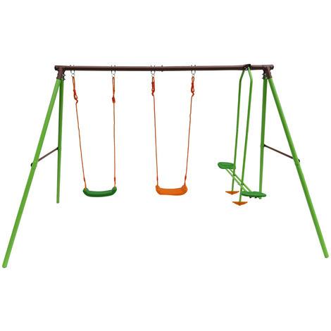 Parque infantil de acero Leo - 3 soportes - 1.95m