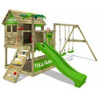 Parque infantil FATMOOSE TikaTaka Town XXL con SuperSwing