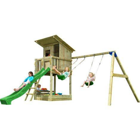 Parque infantil Masgames Beach Hut con columpio doble