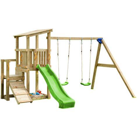 Parque infantil Masgames Cascade con columpio doble