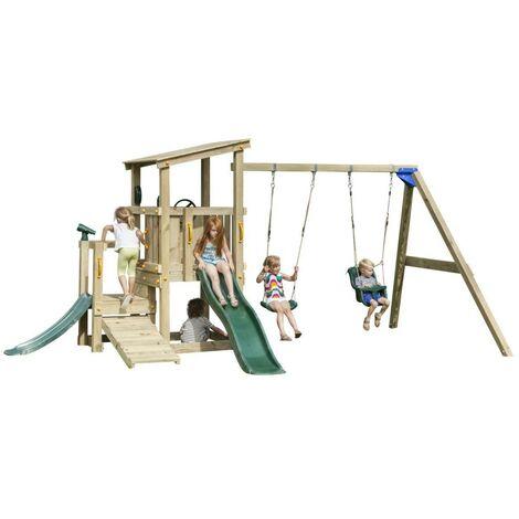 Parque infantil Masgames Mini Cascade con columpio doble