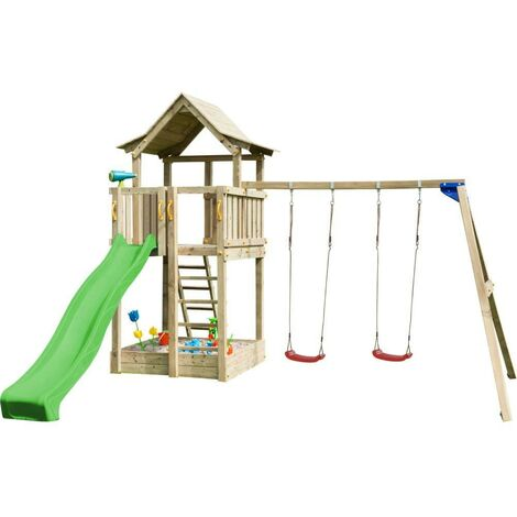Parque infantil Masgames Pagoda con columpio doble