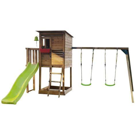 Parque Infantil Masgames TAGA L con COLUMPIO doble