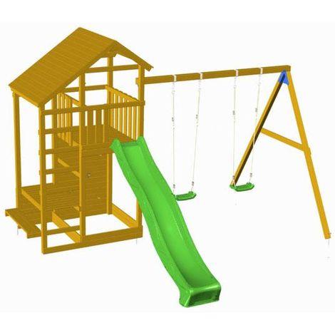 Parque Infantil MASGAMES TEIDE con columpio doble