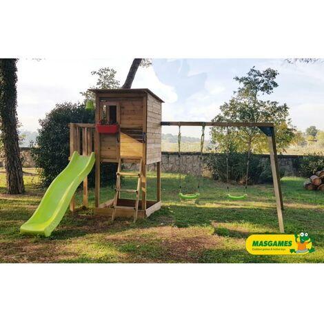 Parque Infantil Taga Con Columpio Doble Masgames