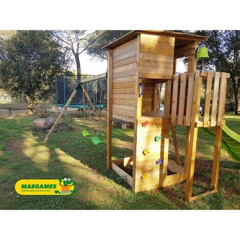 Parque Infantil Taga Escalada Con Columpio Doble Masgames