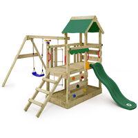 Parque infantil WICKEY TurboFlyer Torre de escalada con columpio