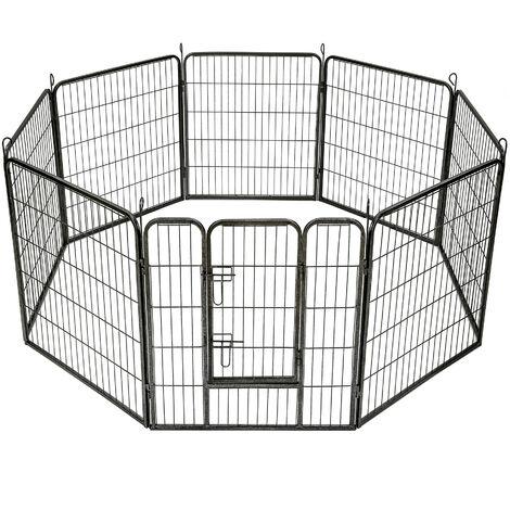 Parque para cachorros 8 vallas - parque para perros con rejas de acero, accesorios para criar mascotas en casa, parque plegable para animales pequeños