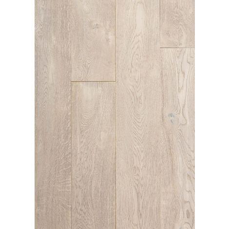Parquet Chêne Contrecollé - Monceau Gris pâle- Verni - larg. 19 cm | 2.88 mètre carré