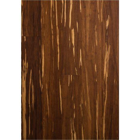 Parquet Contrecollé - Bambou - Haute Pression - Flammé - Carbonisé et Verni Mat - larg. 12,5 cm | 2.31 mètre carré