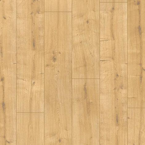 Parquet flottant Stratifié compatible cuisine salle de bain - Chêne beige sahara - Paquet de 1,48m²