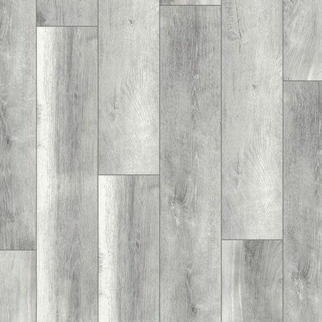 Parquet flottant Stratifié compatible cuisine salle de bain - Chêne Gris Rustique - Paquet de 1,48m²