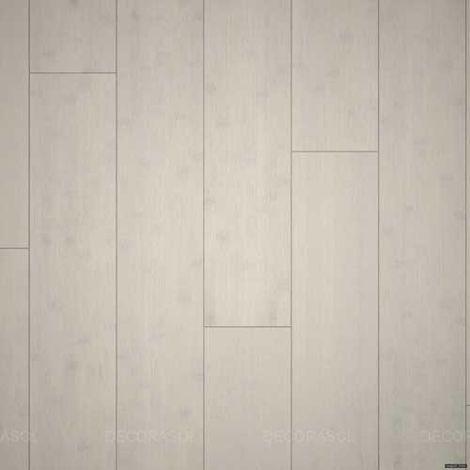 Parquet Massif Bambou - Brossé - Blanchi Polaire - Compatible Pièces Humides - larg. 13 cm | 2.14 mètre carré