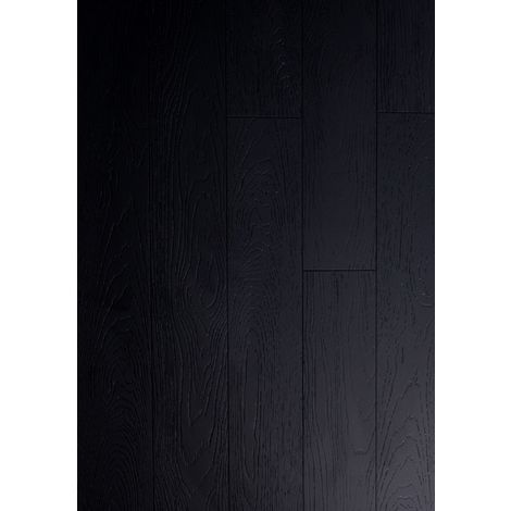 Parquet Massif Bambou Haute Pression - Façon Chêne Noir - Compatible Pièces Humides - larg. 13 cm | 2.40 mètre carré