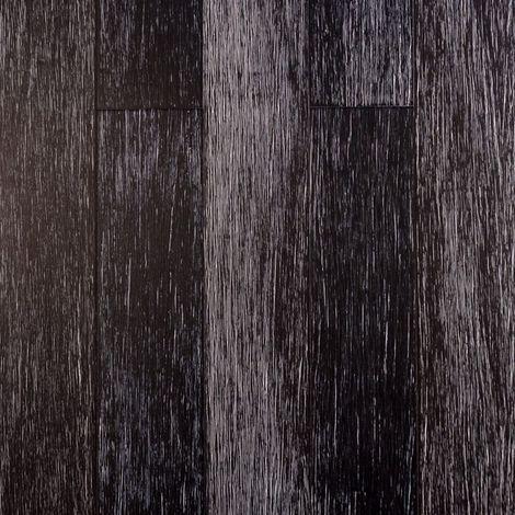 Parquet Massif Bambou Haute Pression - Verni Mat - Black & White - Clipsable - Compatible Pièces Humides - larg. 12,5 cm | 1.37 mètre carré