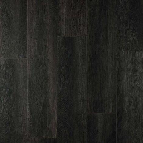 "main image of ""Parquet stratifié chêne STY00148AP 126.1x19.2cm Vitality Style Aqua Protect - Chêne Noir - 2.18m²"""