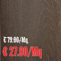 Parquet vero legno ROVERE Grafite verniciato spazzolato maxiplancia 15 mm. - Onlywood