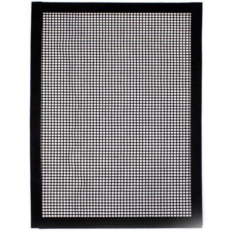 Parrilla de malla de fibra de vidrio, 40 * 33 cm, cubierta negra, 1 piezas