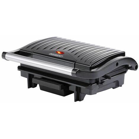 Parrilla eléctrica multifunción grill para asar carne paninis bocadillos sandwichera barbacoa de mesa 29x24,5x11cm 1500V