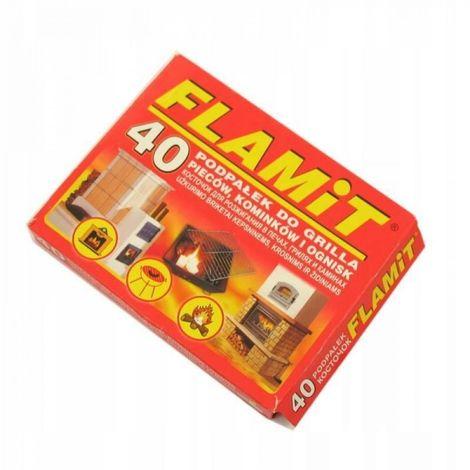 Parrilla encendida encendida 40 cubos de flamita b