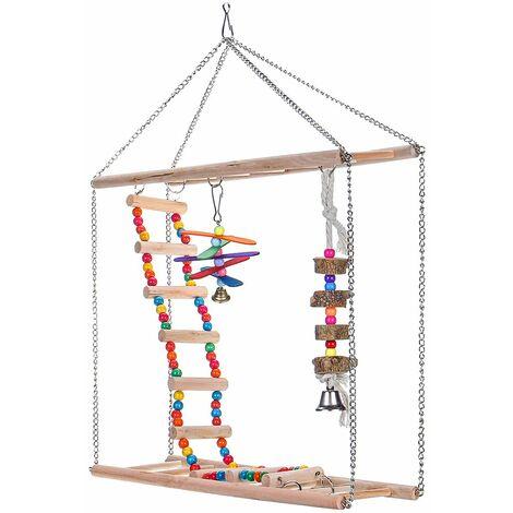 Parrot Wooden Toys Pet Birds Swinging Ladder Climbing
