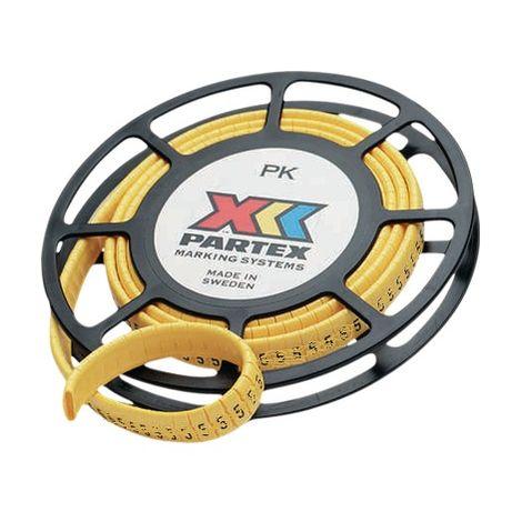 """Partex PK-20004SV40.D - 500 x Marcadores de cables PK 2/4 - """"D"""" - di"""