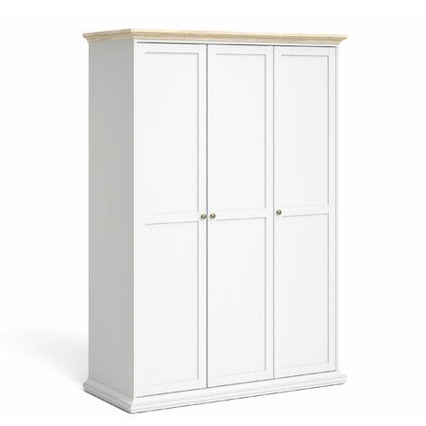 Parto Wardrobe - Three Door White Oak
