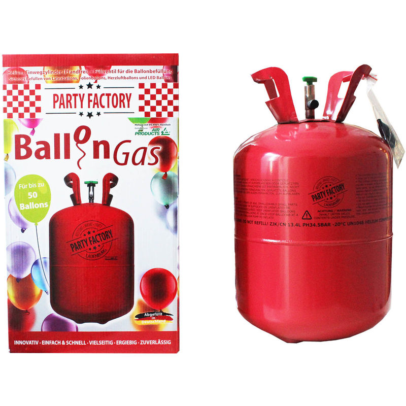 party factory ballongas helium f r ca 50 luftballons. Black Bedroom Furniture Sets. Home Design Ideas