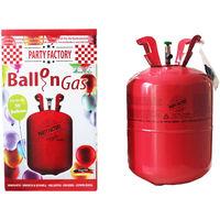Party Factory Ballongas Helium für ca. 50 Luftballons, Folienballons in Einwegfalsche