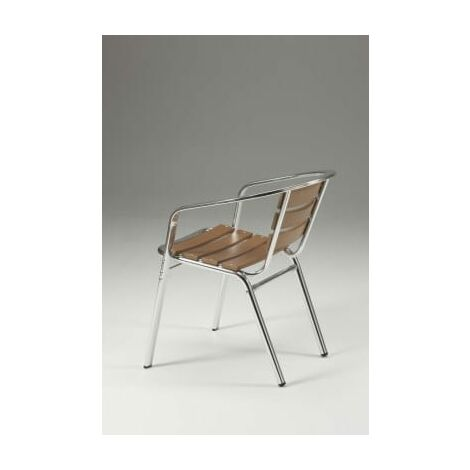 Party Stackable Aluminium Non Wood Chair - Indoor/Outdoor