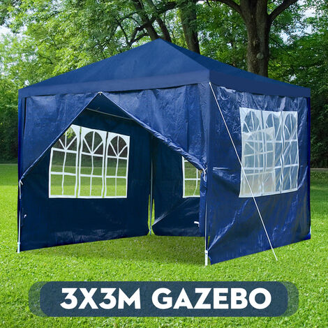 Party Tent 3x3M Waterproof Shelter Outdoor Garden Gazebo Marquee Tent