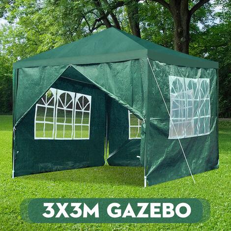 Party Tent 3x3M Waterproof Shelter Outdoor Garden Gazebo Marquee Tent
