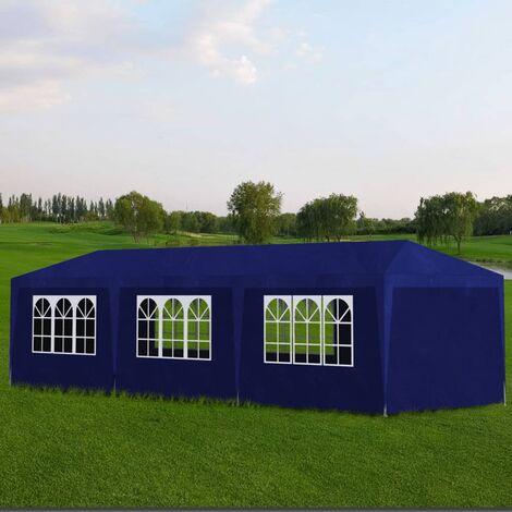 Party Tent 3x9 m Blue