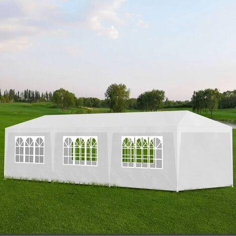 Party Tent 3x9 m White - White
