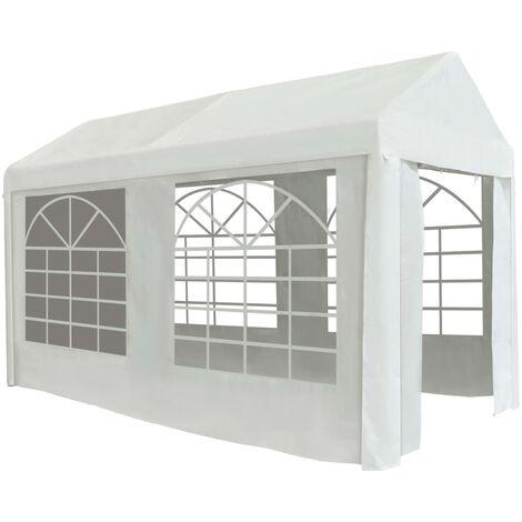 Party Tent PE 2x4 m White - White