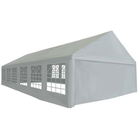 Party Tent PE 6x12 m Grey