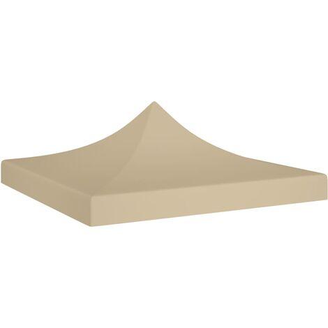 Party Tent Roof 3x3 m Beige 270 g/m²