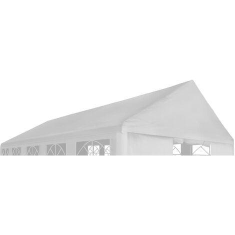 Party Tent Roof 4 x 8 m White - White