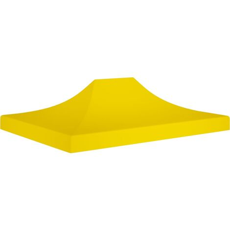 Party Tent Roof 4x3 m Yellow 270 g/m²