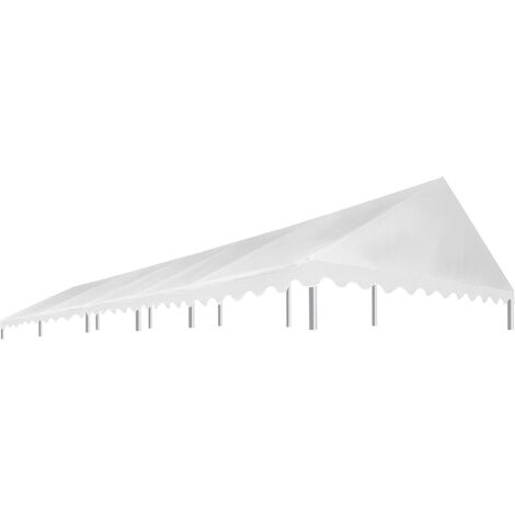 Party Tent Roof 5x10 m White 450 g/m²
