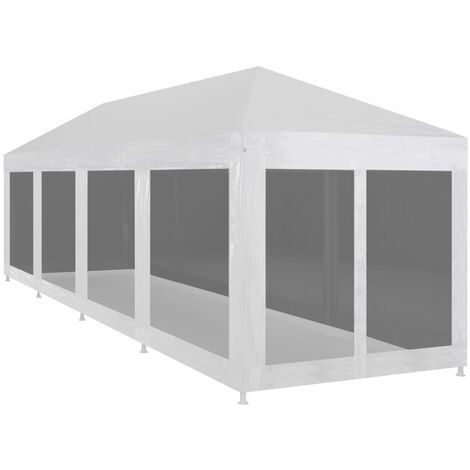 Party Tent with 10 Mesh Sidewalls 12x3 m