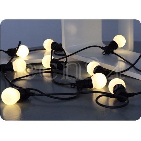 Partylichterkette 12m mit 20 LED Lampen warmweiss