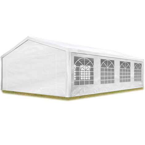 """main image of """"Partyzelt Pavillon 5x8 m in weiß 180 g/m² PE Plane Wasserdicht UV Schutz Festzelt Gartenzelt"""""""