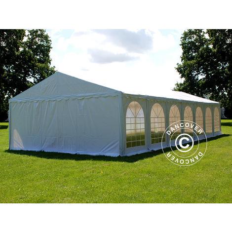 Partyzelt Pavillon Festzelt Dancover, SEMI PRO Plus CombiTents® 7x14m 5-in-1, Weiß