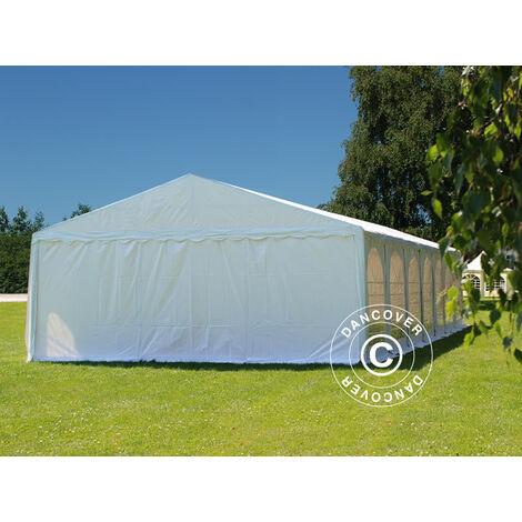 Partyzelt Pavillon Festzelt Dancover, SEMI PRO Plus CombiTents® 8x12 (2,6)m 4-in-1, Weiß