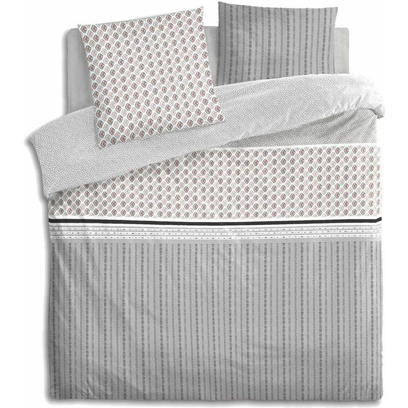parure de lit g om trique 240 x 220 cm atmosphera 163985. Black Bedroom Furniture Sets. Home Design Ideas