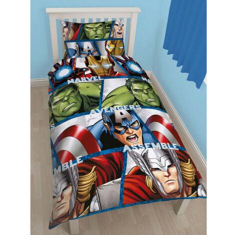 """main image of """"Parure de lit réversible Avengers Marvel Shield"""""""