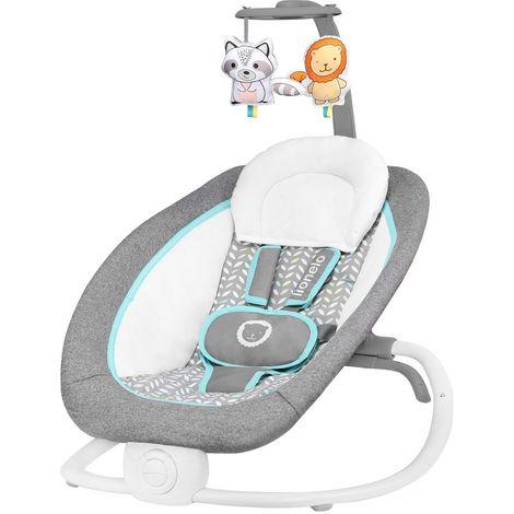 PASCAL Transat bébé pliable avec musiques et vibrations Bleu - Bleu